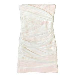 Topshop Ivory Bodycon Bandeau Dress Strapless Sz 2